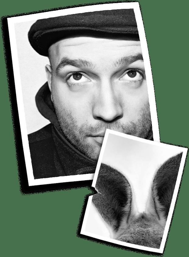 Passfotos von Marc-Uwe und dem Känguru